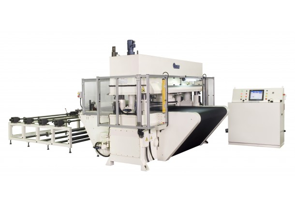 SYSCO CPC Automatic Travelling head CNC Cutting Press on belt